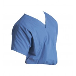 Landau Uniforms - 71221 - Scrub Shirt, XS, Blue, 4.25 oz.