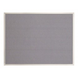 United Visual - UV640AEZ-GREY-SATIN - Bulletin Board, Fabric, 18H x 24W In