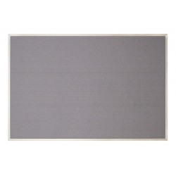 United Visual - UV641AEZ-GREY-SATIN - Bulletin Board, Fabric, 24H x 36W In