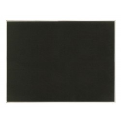 United Visual - UV642AEZ-BLACK-SATIN - Bulletin Board, Fabric, 36H x 48W In