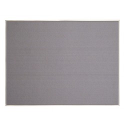 United Visual - UV642AEZ-GREY-SATIN - Push-Pin Bulletin Board, Self-Adhesive Fabric, 36H x 48W, Gray