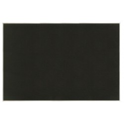 United Visual - UV646AEZ-BLACK-SATIN - Push-Pin Bulletin Board, Self-Adhesive Fabric, 48H x 72W, Black