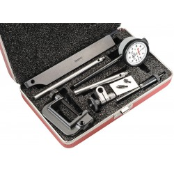 L.S. Starrett - 650A1Z - Continuous Reading Dial Indicator, AGD 2, 1.450 Dial Size, 0 to 0.200 Range