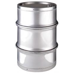 Skolnik - SL5501DF - 55 gal. Silver 304 Stainless Steel Closed Head Transport Drum
