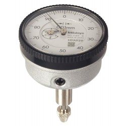 Mitutoyo - 1160T - Continuous Reading Dial Indicator, AGD 1, 1.540 Dial Size, 0 to 5mm Range