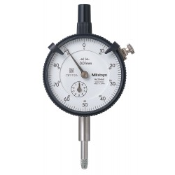 Mitutoyo - 2046S-01 - Continuous Reading Dial Indicator, AGD 2, 57mm Dial Size, 0 to 10mm Range