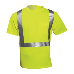 Tingley Rubber - S75022 - Hi-Vis T-Shirt, Short Sleeve, Lime, M