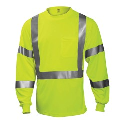 Tingley Rubber - S75522 - Hi-Vis T-Shirt, Long Sleeve, Lime, M