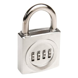 Sesamee - K2620 - Combination Padlock, Resettable Front-Dial Location, 1-5/16 Shackle Height