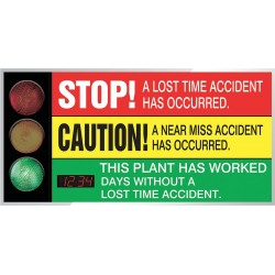 Accuform Signs - SCT925 - Safety Scoreboard, 36 x 72In, AL/PLSTC, ENG