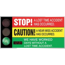 Accuform Signs - SCT923 - Safety Scoreboard, 36 x 72In, AL/PLSTC, ENG