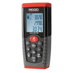 "RIDGID - 36158 - Laser Distance Meter, ±1/16"" Accuracy, 164 ft./50M Range"