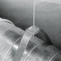 Ductmate Industries - GRDM4703GA - Round Strap Hanger, Steel
