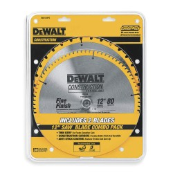 Dewalt - DW3128P5 - 12 Carbide Combination Circular Saw Blade, Number of Teeth: 32/80, Package Quantity 2