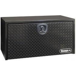 Buyers - 1702500 - Steel Body, Diamond Tread Aluminum Door Underbody Truck Box, Black, Single, 4.5 cu. ft.