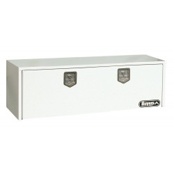 Buyers - 1702415 - Steel Underbody Truck Box, White, Double, 11.2 cu. ft.