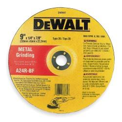 "Dewalt - DW8447 - 9"" x 1/4"" Depressed Center Wheel, Aluminum Oxide, 7/8"" Arbor Size, Type 28, High Performance"