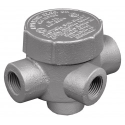 Appleton Electric - GRJTA75 - TA-Style 3/4 Conduit Outlet Body, Threaded Iron, 7.3 cu. in.
