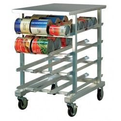 New Age - 1225 - 25 x 35 x 41 Aluminum With Stainless Top Can Rack