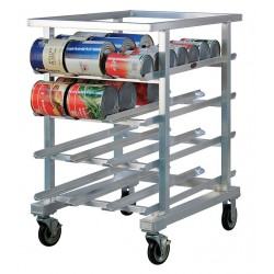 New Age - 1226NT - 25 x 35 x 41 Aluminum With Open Top Can Rack