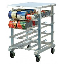 New Age - 1227 - 25 x 35 x 41 Aluminum With Poly Top Can Rack