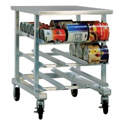 New Age - 1235 - 25 x 35 x 35 Aluminum With Stainless Top Can Rack