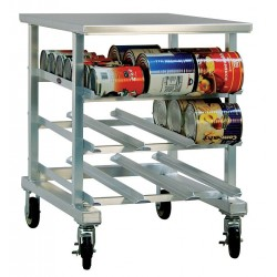 New Age - 1236 - 25 x 35 x 35 Aluminum With Aluminum Top Can Rack