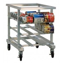 New Age - 1236NT - 25 x 35 x 35 Aluminum With Open Top Can Rack