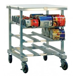 New Age - 1237 - 25 x 35 x 35 Aluminum With Poly Top Can Rack