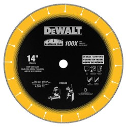 "Dewalt - DW8500 - Diamond Edge Chop Saw Blade 14"" X 1"""