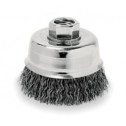 Dewalt - DW49150 - DeWALT DW49150 3'' x 5/8''-11 XP 0.014 Carbon Crimp Wire Cup Brush (6 pack)