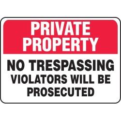 Accuform Signs - MATR960VS - Security Sign, 7 x 10In, BK and R/WHT, ENG