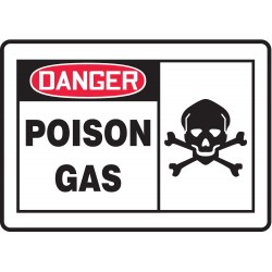Accuform Signs - MCHL229VP - Danger Sign, 10 x 14In, R and BK/WHT, ENG