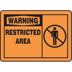 Accuform Signs - MADM316VA - Warning Sign, 7 x 10In, BK/ORN, AL, ENG, SURF