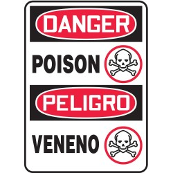 Accuform Signs - SBMCHG039VS - Danger Sign, 14 x 10In, R and BK/WHT, Vinyl