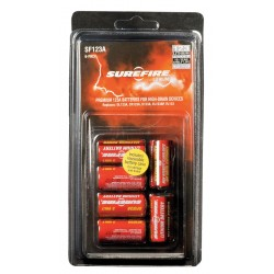 SureFire - SF6-BC - Lithium Battery, Voltage 3, Battery Size 123A, 6 PK