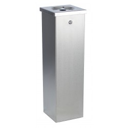 No Butts Bin Co - FLT01 - Silver Cigarette Receptacle