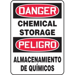 Accuform Signs - SBMCHL192VS - Danger Sign, 14 x 10In, R and BK/WHT, Vinyl