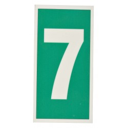 Accuform Signs - MLMR307GX - Number Sign, 6 x 3In, GRN/Glow WHT, 7, ENG