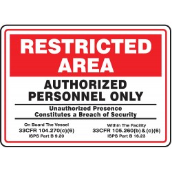 Accuform Signs - MASE923VA - Authorized Personnel and Restricted Access, No Header, Aluminum, 10 x 14, With Mounting Holes