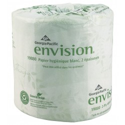 Georgia Pacific - 19448/01 - 1 Ply Standard Toilet Paper Envision, 333 ft., 48PK