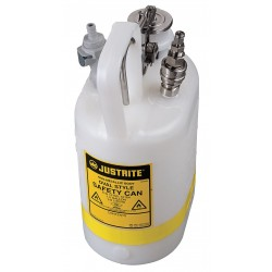 Justrite - 12164 - HPLC In-Flow Can, 1/2 gal., Polypropylene, Stainless Steel, EDPM, PTFE Seal Material