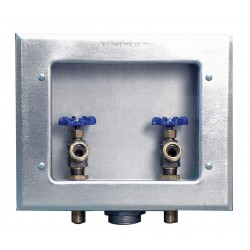 IPS Corporation - 82026 - 11.63 x 9.50 Galvanized Metal Washing Machine Outlet Box with 1/2 MIP Inlet Connection