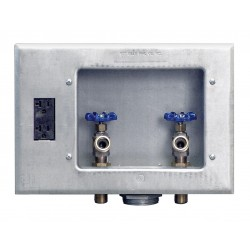 IPS Corporation - 82033 - 12.25 x 8.75 Galvanized Metal Washing Machine Outlet Box with 1/2 MIP Inlet Connection