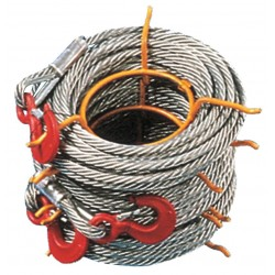 Tractel - 7128090100K - 100 ft. Alloy Steel Winch Cable with 4000 lb. Working Load Limit