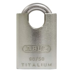 ABUS - 90RK/50 KA - Silver Lockout Padlock, Alike Key Type, Aluminum Body Material