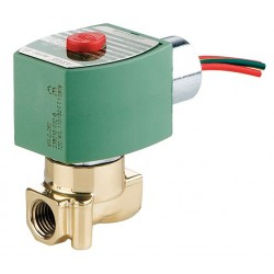 Red Hat - 8262H208 - 120VAC Brass Solenoid Valve, Normally Closed, 1/4 Pipe Size