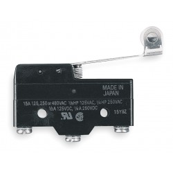 Omron - A-20GV2-B7-K - 20A @ 480V Hinge Roller, Lever Industrial Snap Action Switch; Series A