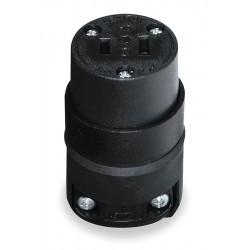 Leviton - 115CR - Leviton 115CR 15 Amp Connector, 125V, 1-15R, Rubber, Black