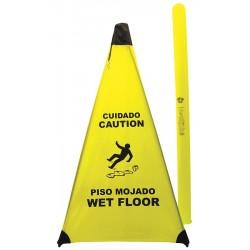 Novus Products - PC131 - Accident Prevention, Caution/Cuidado, Nylon, 31 x 18, Not Retroreflective